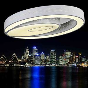 (UK Stock) Modern Simple Fashion LED Acrylic White Oval Flush Mount Light Living Room Bedroom Study Room Dining Room Warm White Energy Saving