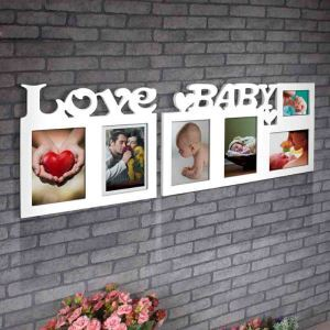 Modern Simple LOVE BABY Group Home Decor Solid Wood Photo Frame