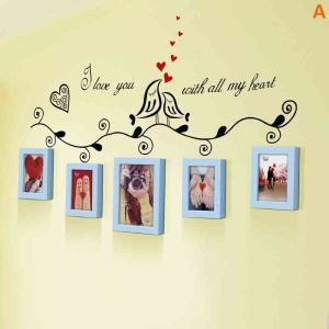European Home Decor Solid Wood Photo Wall Photo Frame 5 pcs/set