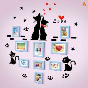 Modern Simple Photo Frame Home Decor Solid Wood Photo Wall Photo Frame 9 pcs/set