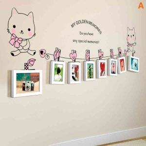 Modern Simple Photo Frame Home Decor Solid Wood Photo Wall Photo Frame 8 pcs/set
