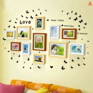 Nordic Simple Home Decor Photo Frame Solid Wood Photo Wall Photo Frame 11 pcs/set