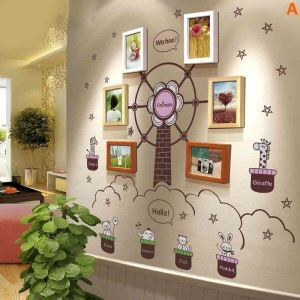 Modern Simple Photo Frame Home Decor Solid Wood Photo Wall Photo Frame 6 pcs/set
