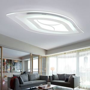Modern Simple LED Flush Mount Leaf Shape Dining Room Bedroom Lighting