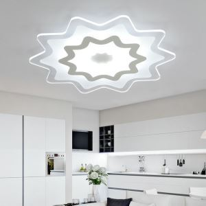 Modern Simple LED Flush Mount Multi-pointed Star Shape Dining Room Bedroom Lighting