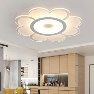 Modern Simple LED Flush Mount Flower Shape Dining Room Bedroom Lighting
