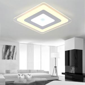 Modern Simple LED Flush Mount Diamond Dining Room Bedroom Lighting