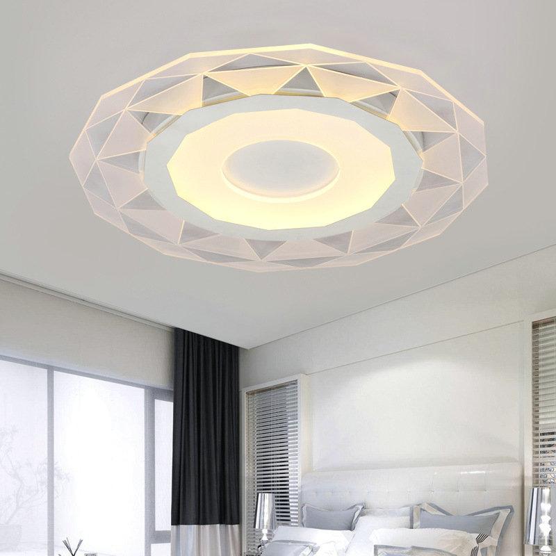 Modern Simple Led Flush Mount Geometric Shape Dining Room