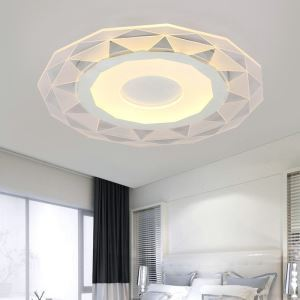 Modern Simple LED Flush Mount Geometric Shape Dining Room Bedroom Lighting