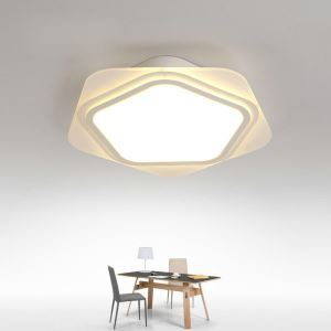 Modern Simple LED Flush Mount Star Dining Room Bedroom Lighting