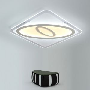 Modern Simple LED Flush Mount Creative Geometric Shape Dining Room Bedroom Lighting
