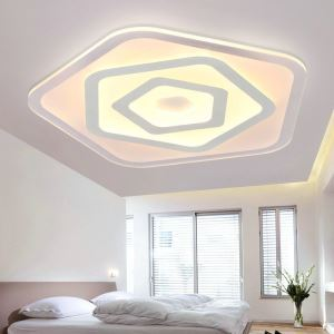 Modern Simple LED Flush Mount Pentagons Dining Room Bedroom Lighting
