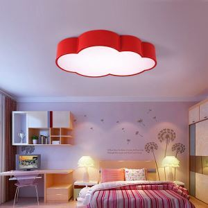 Nordic Simple Style Flush Mount Cloud Shape Children Bedroom Hallway Light 4 Colors Available Cool White