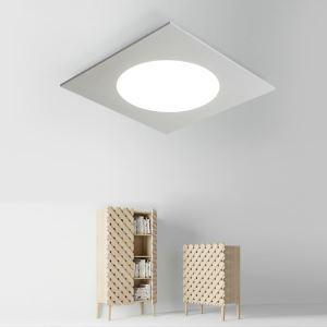 Nordic Simple Style Flush Mount Square Children Bedroom Hallway Light Cool White