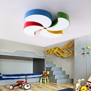 Nordic Simple Style Flush Mount Crescent Shape Children Bedroom Hallway Light 5 Colors Available Cool White