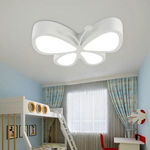 Nordic Simple Style Flush Mount Butterfly Shape Children Bedroom Hallway Light 5 Colors Available Cool White