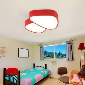 Nordic Simple Style Flush Mount Small Mushroom Shape Children Bedroom Hallway Light 5 Colors Available Cool White