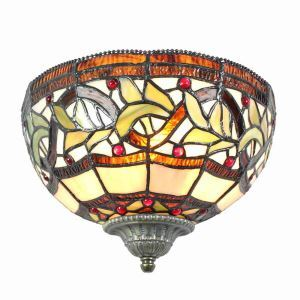 10inch European Pastoral Retro Style Sconce Colorful Pattern Shade Bedroom Living Room Dining Room Kitchen Lights