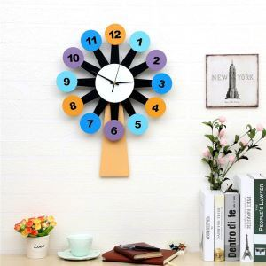 Modern Simple Style Windmill Creative Clock Children Room Living Room Wall Clock
