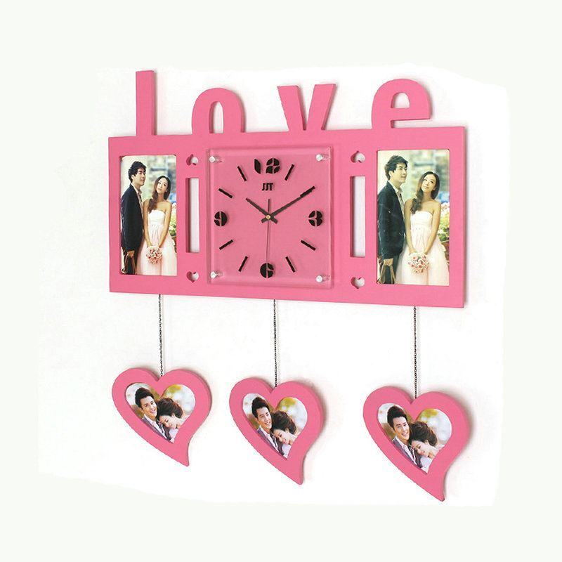Modern Simple Style Love Heart Creative Clock Children Room Living ...