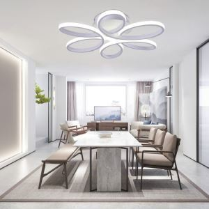 Modern Simple Style LED Flush Mount Living Room Dining Room Bedroom Light
