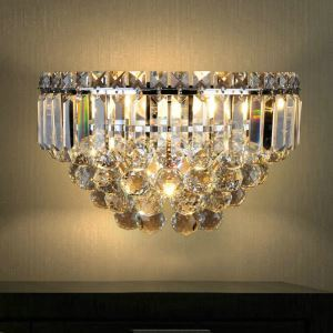 Nordic Simple Style Crystal Wall Light Living Room Dining Room Bedroom Lighting