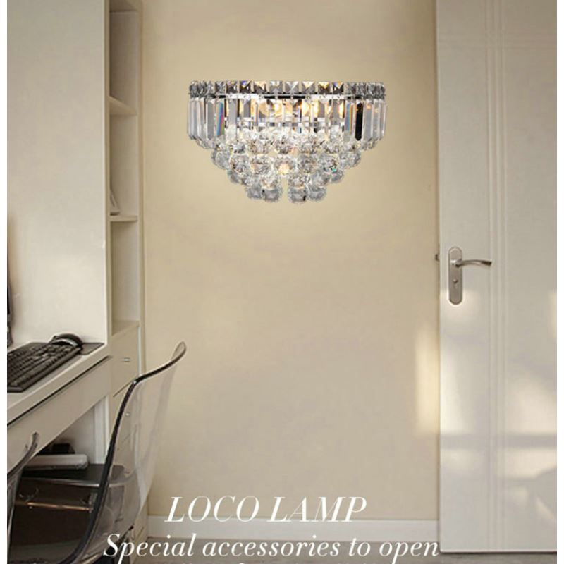 wall lamps for living room.  Nordic Simple Style Crystal Wall Light Living Room Dining Bedroom Lighting img 2