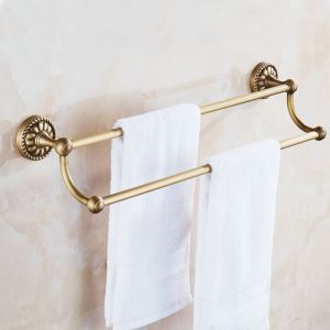 European Antique Copper Towel Bar Towel Rack