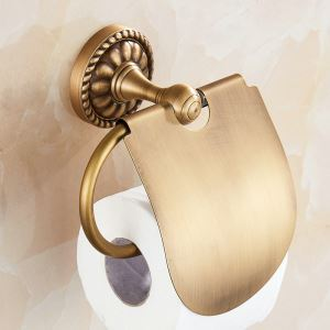 European Antique Copper Toilet Roll Holder