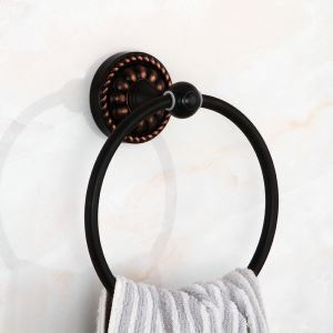 European Black Antique Copper Towel Ring
