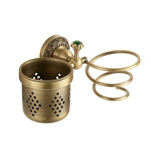 European Antique Copper Hair Dryer Holder