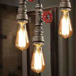 (UK Stock) Chandeliers Mini Style Rustic Lodge Retro Living Room Bedroom Dining Room Lighting Ideas Study Room Office Metal