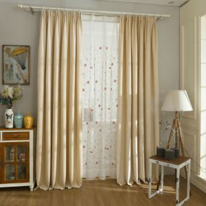European Sheer Curtain Pastoral Style Polyester Embroidery Sheer Curtain Living Room Curtain