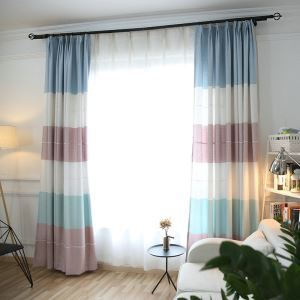 European Pastoral Style Curtain Polyester Jacquard Curtain Living Room Curtain