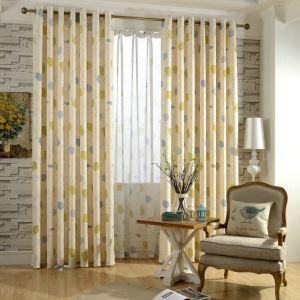 European Pastoral Style Curtain Polyester Curtains Living Room Curtain