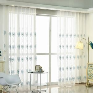 Nordic Simple Sheer Curtain Embroidery Curtain Embroidery Patterns Curtain