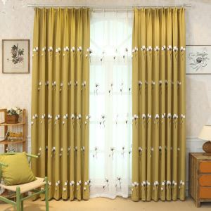 Nordic Simple Sheer Curtain Embroidery Curtain Kapok Pattern Curtain