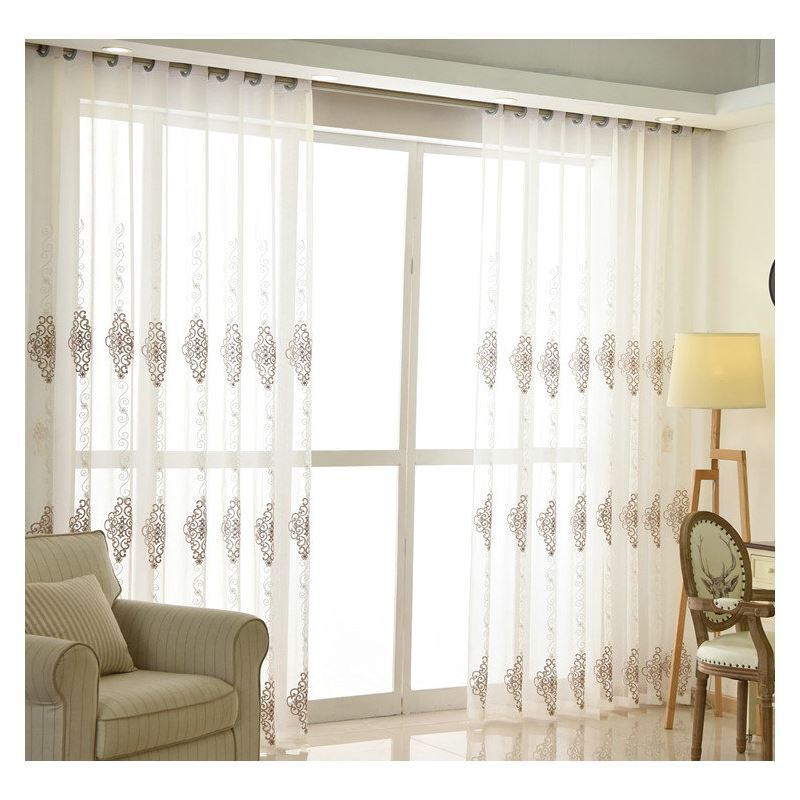 Nordic Simple Sheer Curtain Embroidery Curtain Embroidery