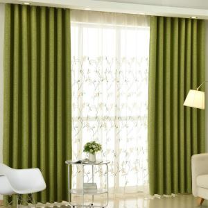 Modern Sheer Curtain Simple Embroidery Sheer Curtain Magnolia Pattern