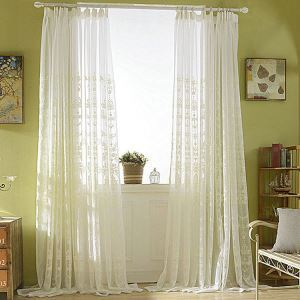 European Sheer Curtain Simple Embroidery Sheer Curtain Embroidery Pattern
