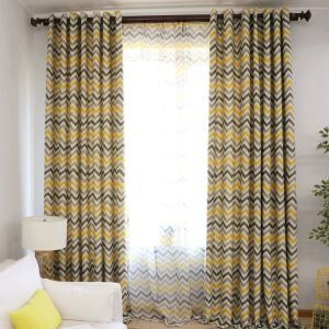 Modern Simple Curtain Printing Pattern Curtain Polyester Fabric Horizontal Stripe Pattern