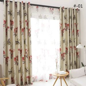 American Country Printing Pattern Curtain Polyester Fabric 2 Colors Available