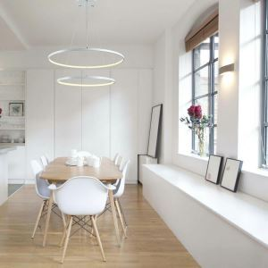 (UK Stock)LED Pendant Light Metal Acrylic  Light LED Patch Ceiling Light 48W Warm White Energy Saving