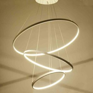 (UK Stock)LED Pendant Light Metal Acrylic Light LED Patch Ceiling Light 90W Cool White Energy Saving