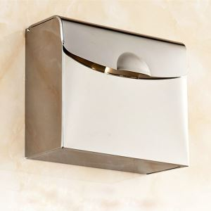 Toilet Paper Box Chrome Plating Craft 304 Stainless Steel European Style Toilet Roll Holder