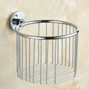 Toilet Roll Holder for Bathroom Chrome Plating Craft 304 Stainless Steel European Style Toilet Roll Holder