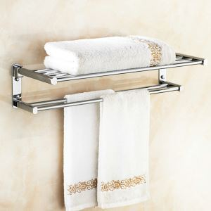 Copper Towel Rack for Bathroom Chrome Plating Craft European Style Bathroom Towel Bar