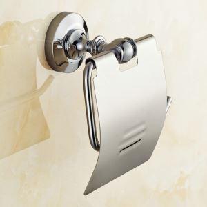 Toilet Roll Holder for Bathroom Copper Chrome Plating Craft European Style Toilet Roll Holder