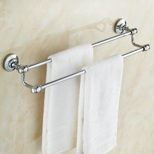 Towel Rack for Bathroom Copper Chrome Plating Craft European Style Bathroom Towel Bar