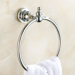 Towel Ring for Bathroom Copper Chrome Plating Craft European Style Bathroom Towel Ring